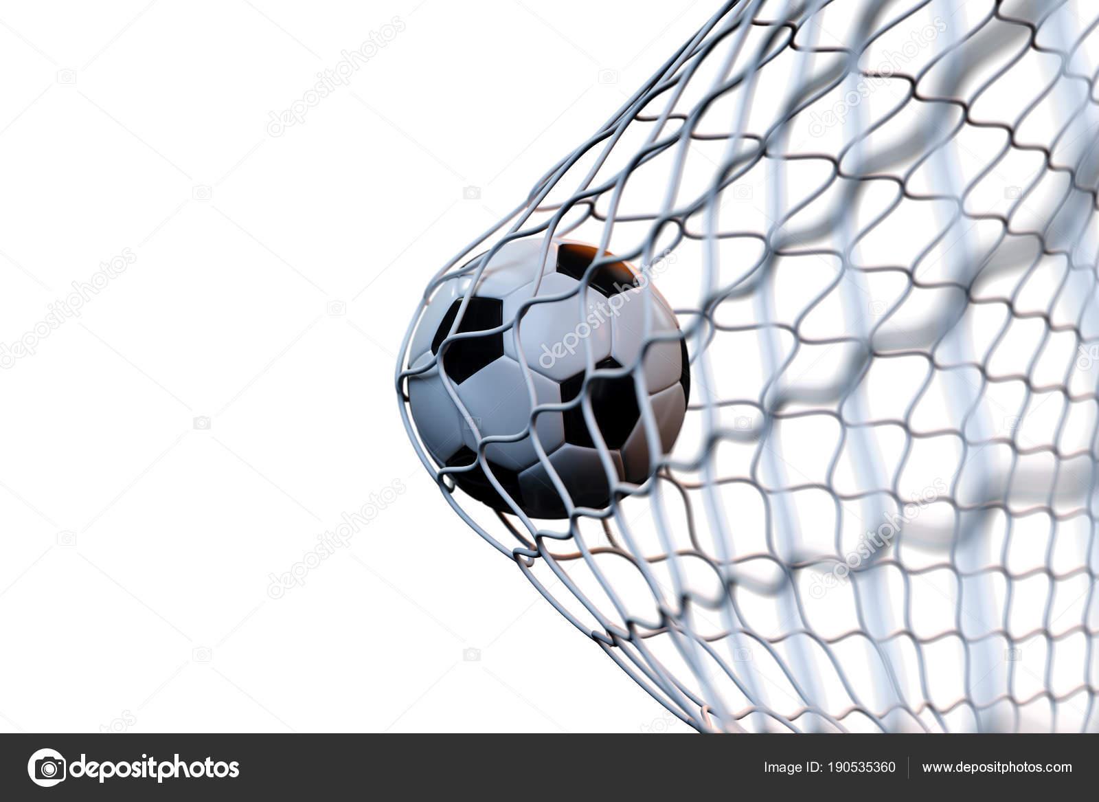 Rendering Fussball Ball Tor Bewegung Fussball Netz Bewegung