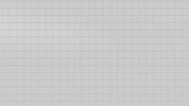 Fehér geometriai kocka alakú absztrakt háttér, 3d megjelenítő animáció. k 4.