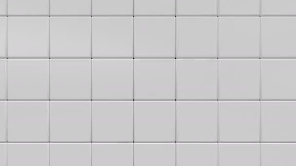 Bílá geometrické krychlový abstraktní pozadí, 3d vykreslování 4 k animaci