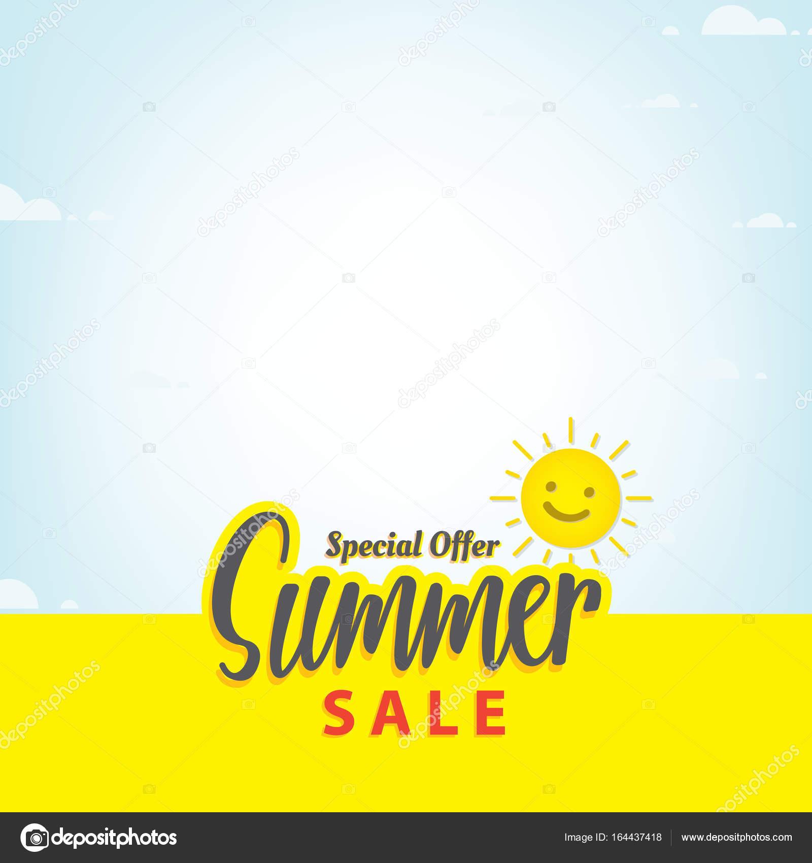 Summer Sale Blank Frame Heading Design For Banner Or Poster Sal Stock Vector