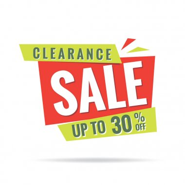 Vol. 3 Clearance Sale green red 30 percent heading design for ba