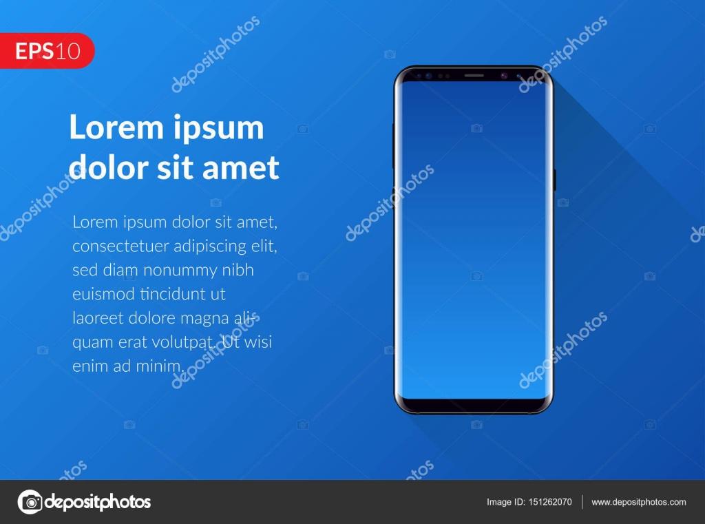 Telefono Smartphone Mobile Design Composizione Isolato Su Sfondo