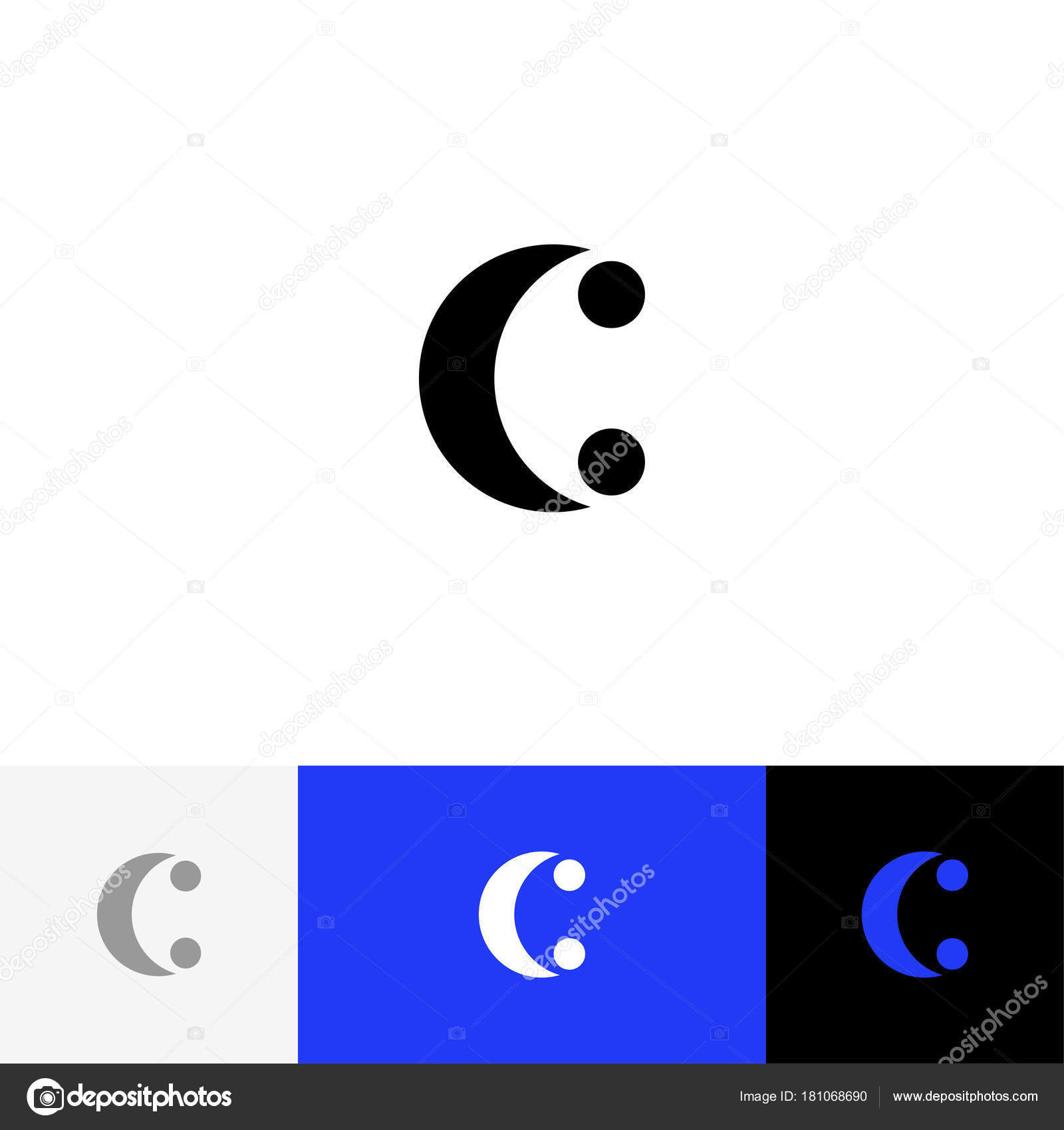 C with two dots vector minimalism logo icon symbol sign from c with two dots vector minimalism logo icon symbol sign from letters c flat logotype design with blue color for company or brand vector by janis s biocorpaavc