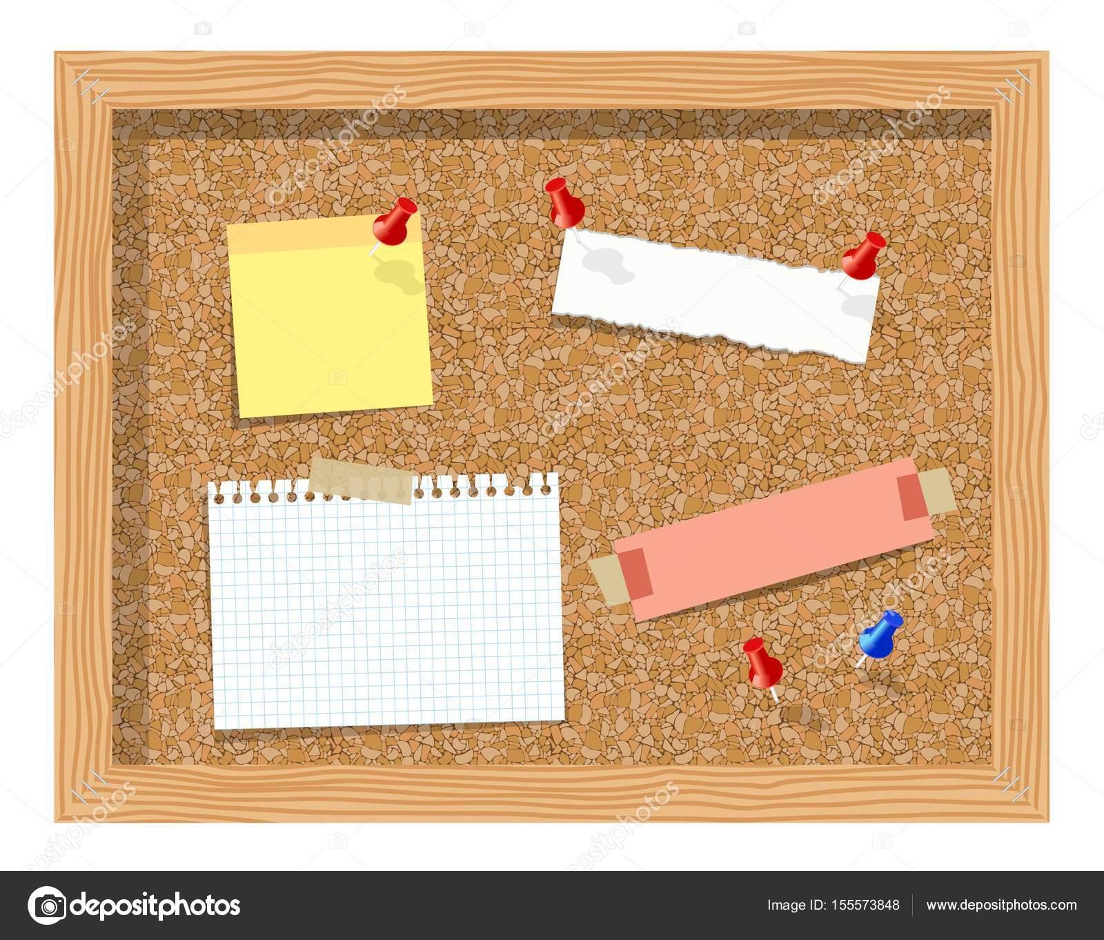 planche de li ge avec papier pingl le bloc notes. Black Bedroom Furniture Sets. Home Design Ideas