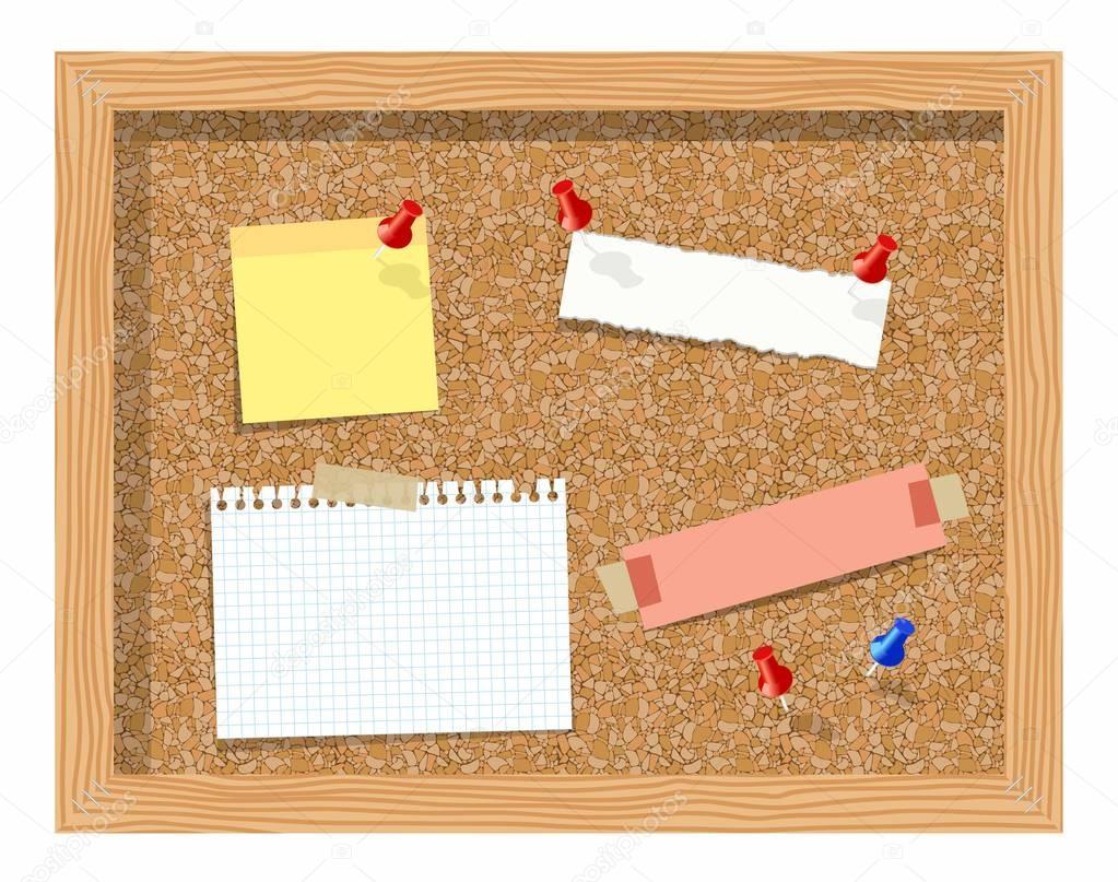 Planche de li ge avec papier pingl le bloc notes - Telecharger un bloc note pour le bureau ...