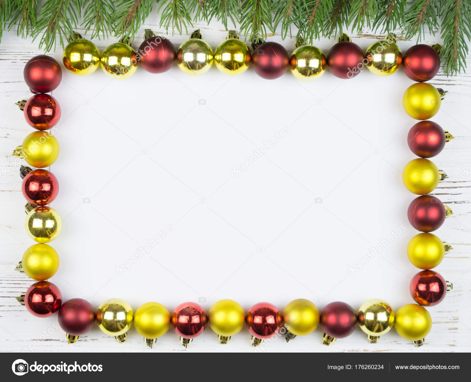 new year background christmas square frame fir tree rustic wood stock photo