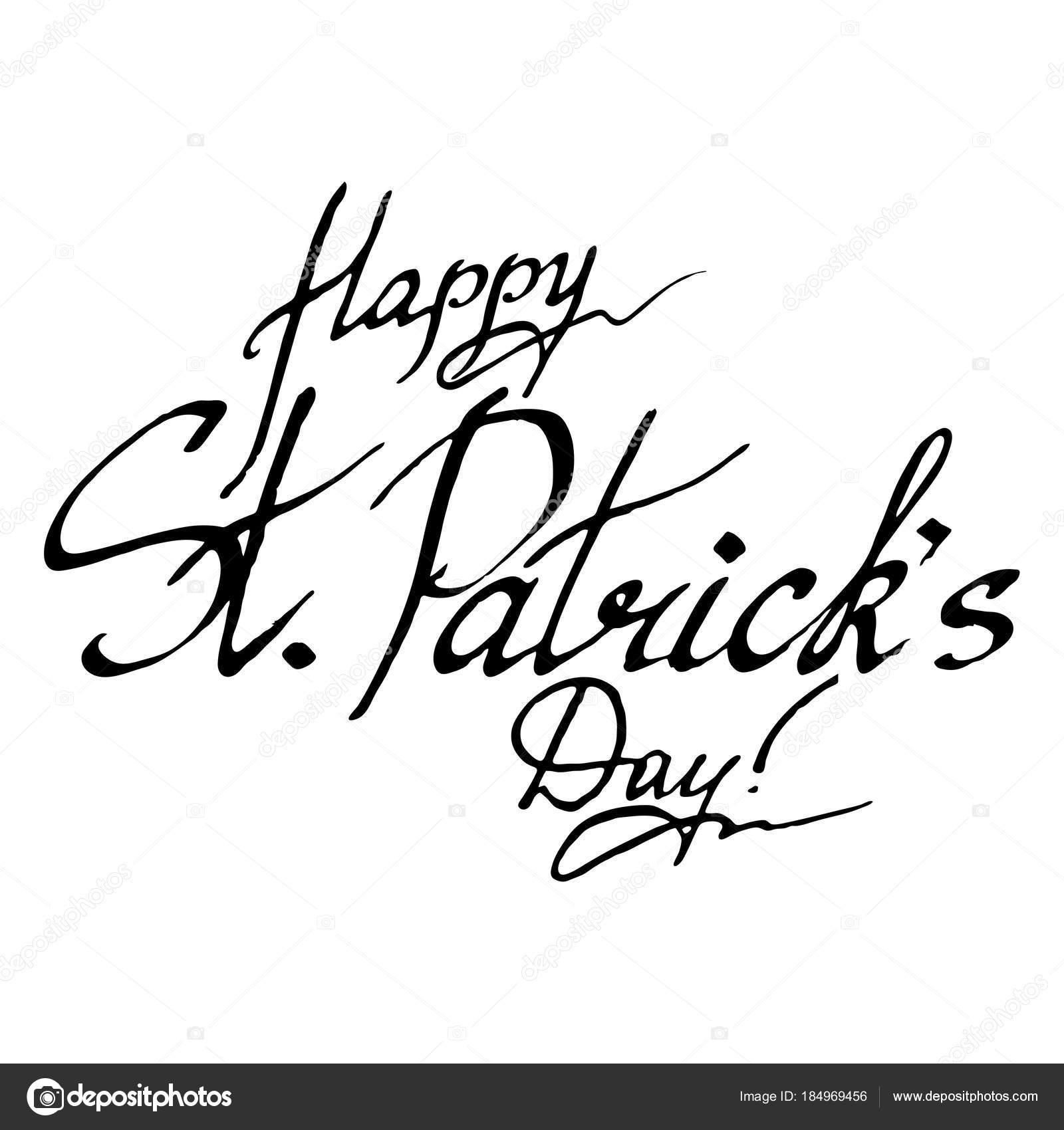 Feliz Día De San Patricio Deseo Irlanda Frase Letras De La