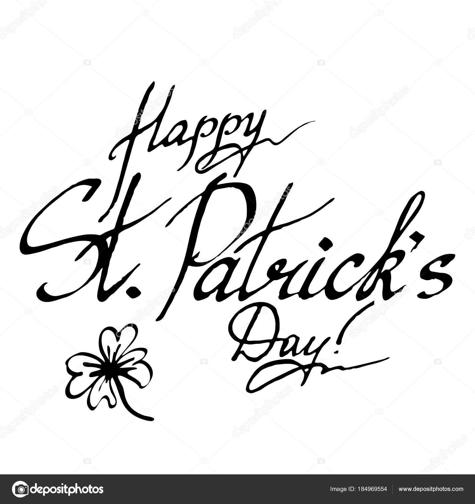 Feliz día de San Patricio deseo Irlanda frase palabra Letras ...