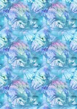 Watercolor turquoise cyan water splash abstract background pattern texture