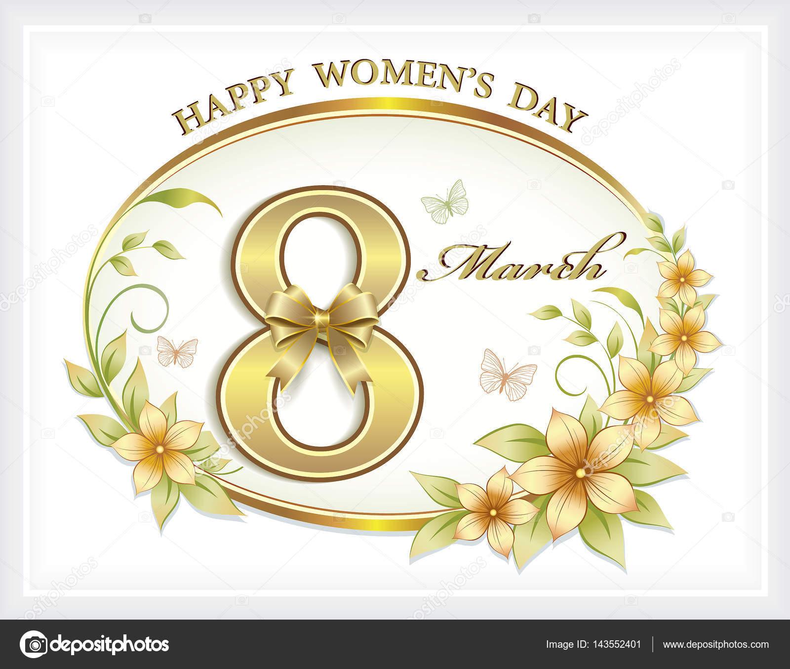 8 Mart Dünya Kadınlar Günü Hafif Bir Arka Plan üzerinde Bir