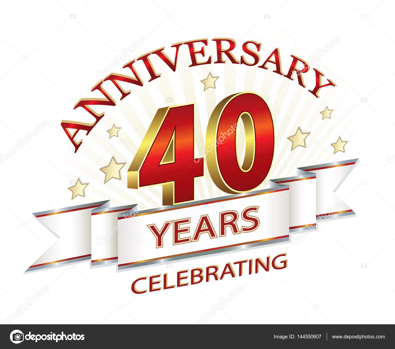 Anniversary card 40 years — Stock Vector © seriga #144550607