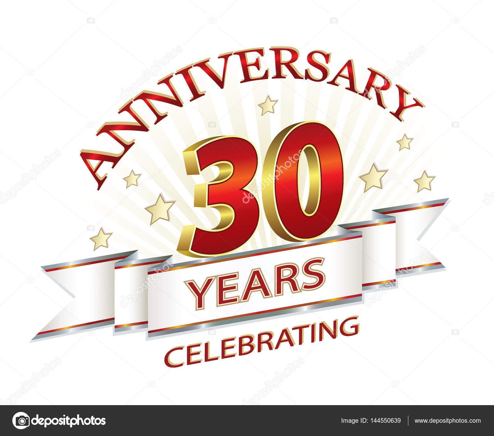 Anniversary card 30 years — Stock Vector © seriga #144550639
