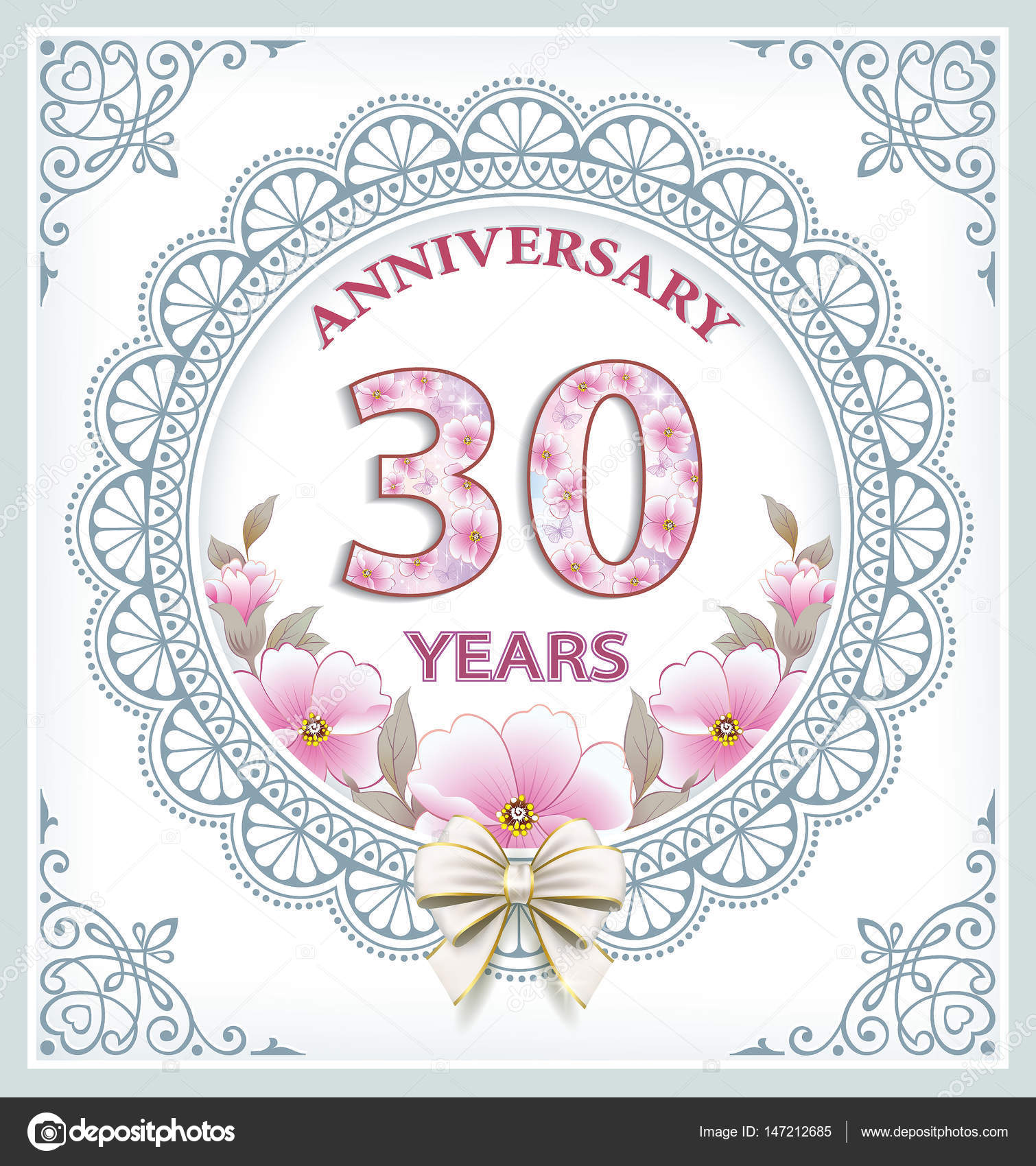 25 30 30 Helloworld: Tarjeta De Aniversario 30 Años