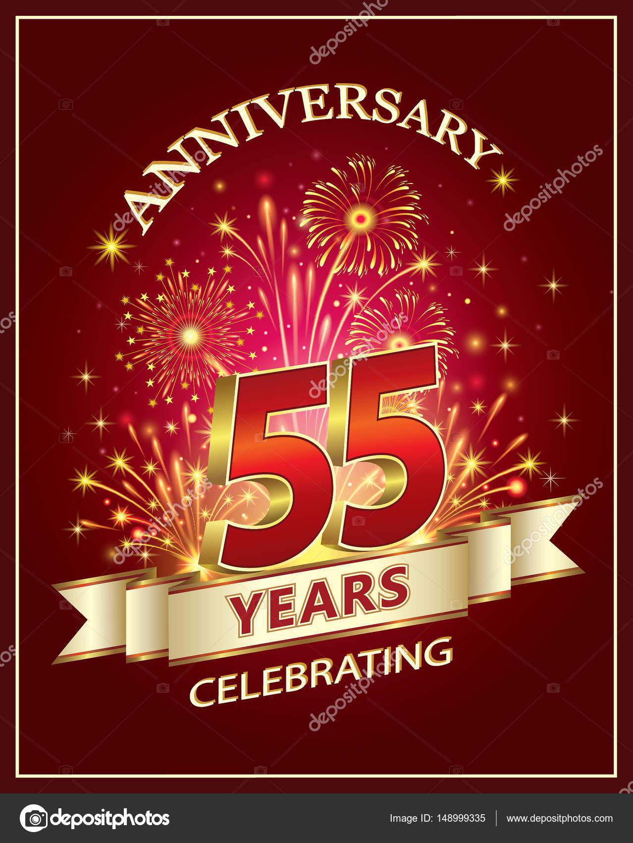 Genoeg Verjaardag card 55 jaar — Stockvector © seriga #148999335 @YN55