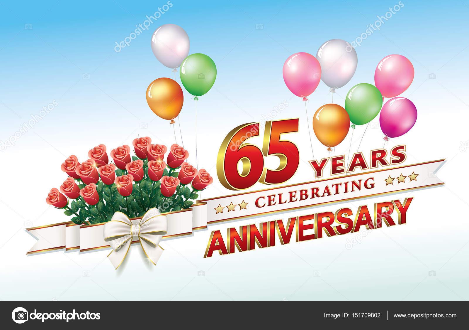 Carte d'anniversaire 65 ans — Image vectorielle seriga © #151709802