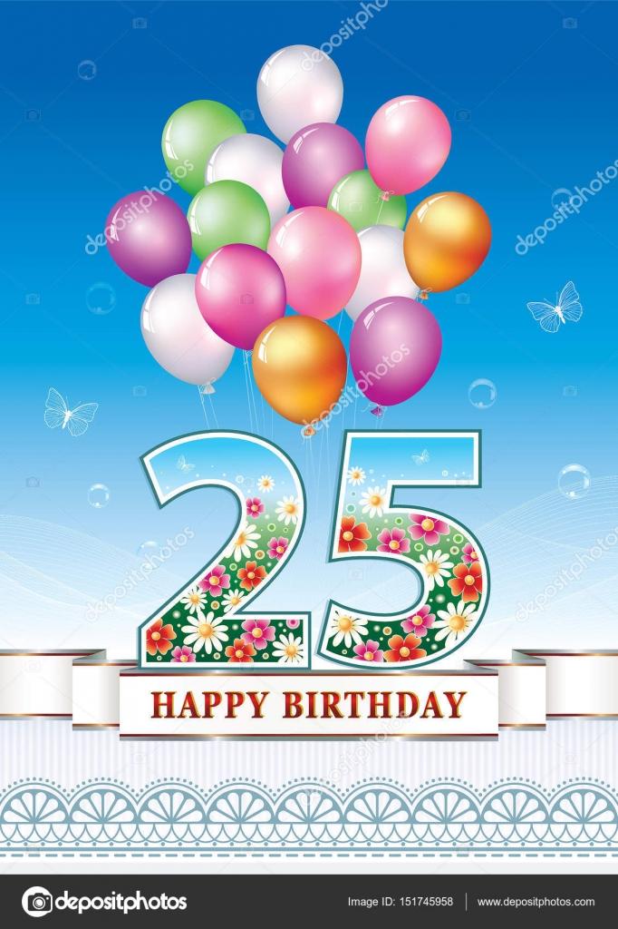 verjaardag card 25 jaar — stockvector © seriga #151745958