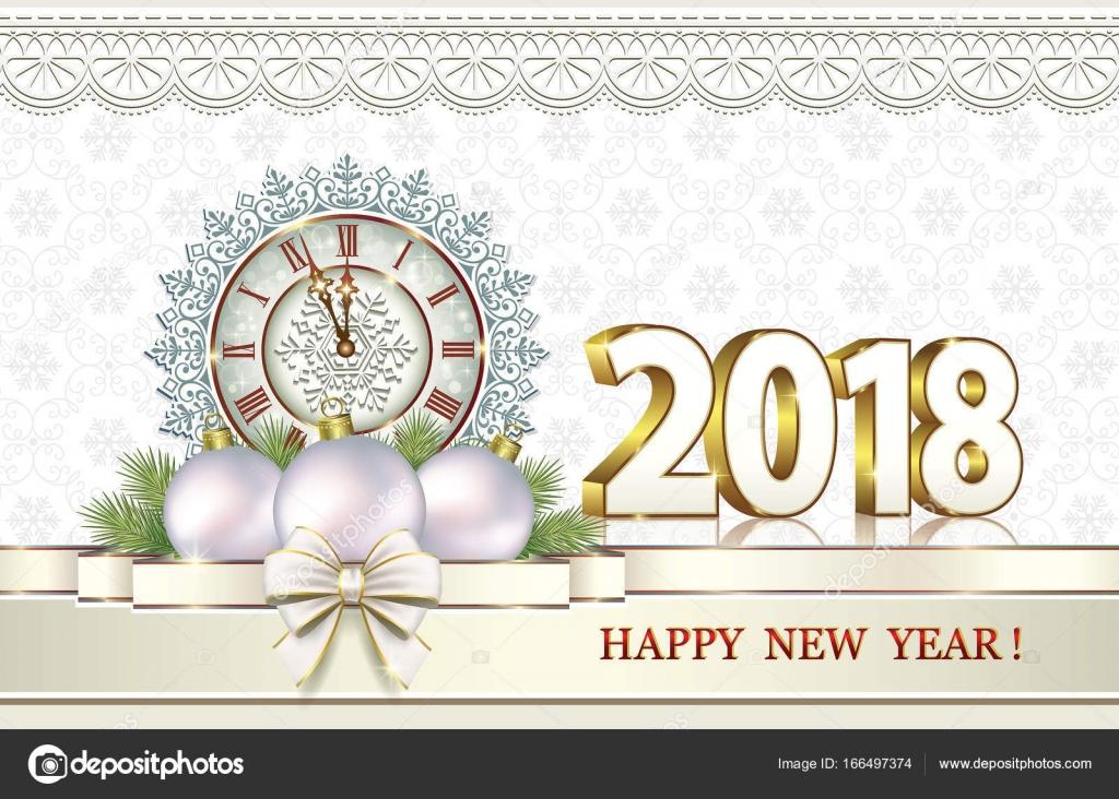 Feliz Ano Novo De Cartão Postal 2018