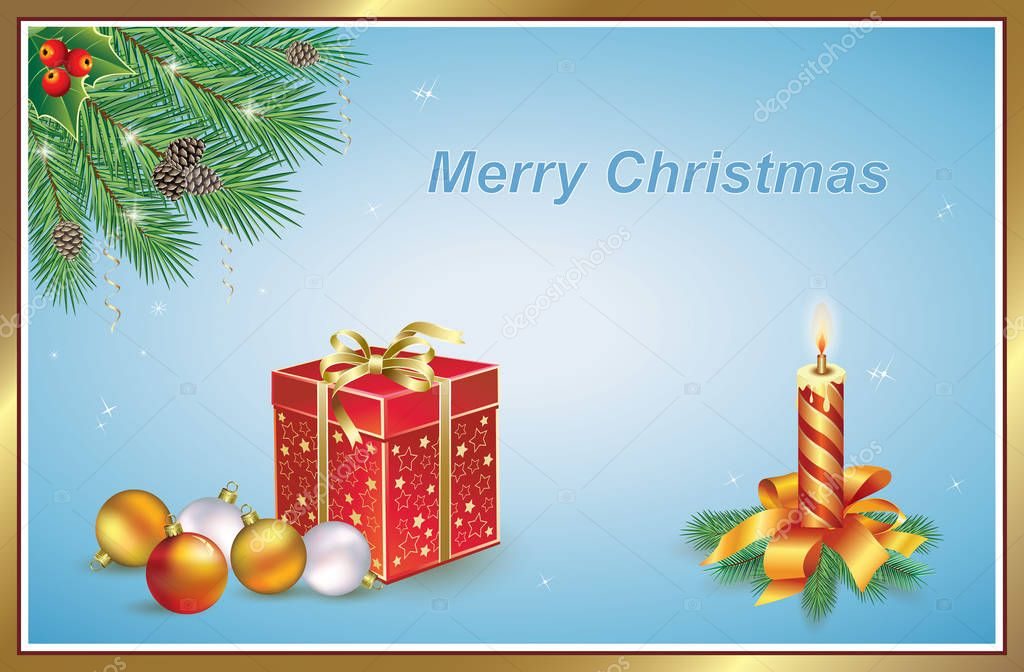Merry Christmas And Happy New Year 2020-2022 ✅ 2020 Merry Christmas and Happy New Year. Greeting card with