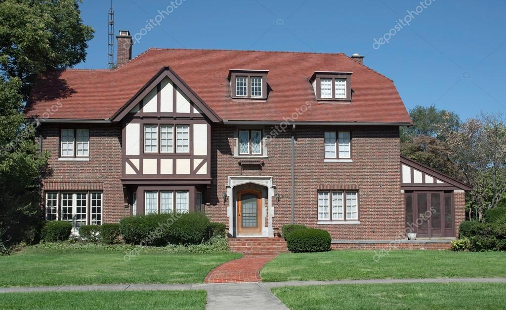 Large Old English Tudor Style Home \u2014 Stock Photo & Large Old English Tudor Style Home \u2013 Stock Editorial Photo © Lawcain ...