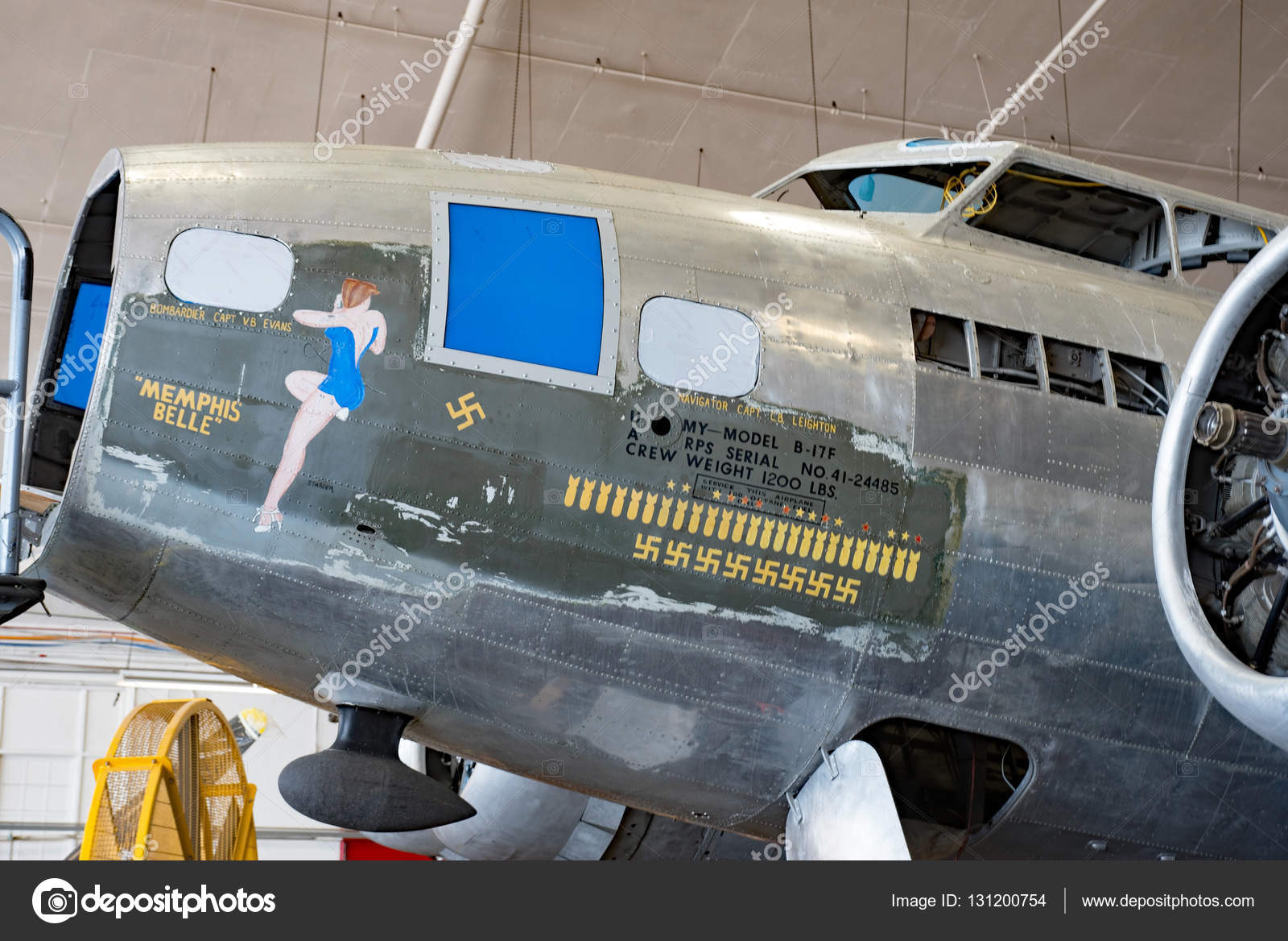 Famous Memphis Belle Restoration in Process – Stock