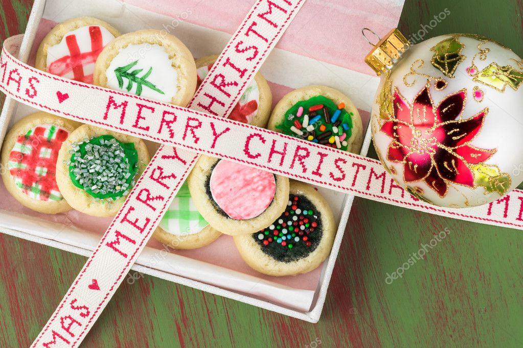 Homemade Christmas Sugar Cookies In Box Stock Photo C Russiandoll