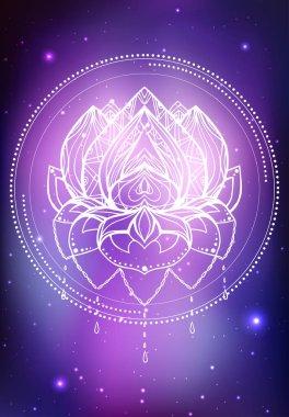 lotus with boho pattern