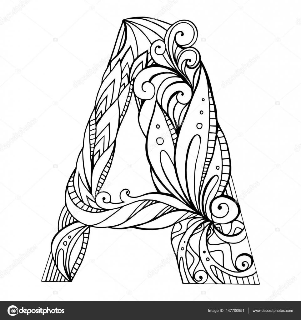 Drawing Lines Freehand : Freehand drawing capital letter a — stock vector veleri
