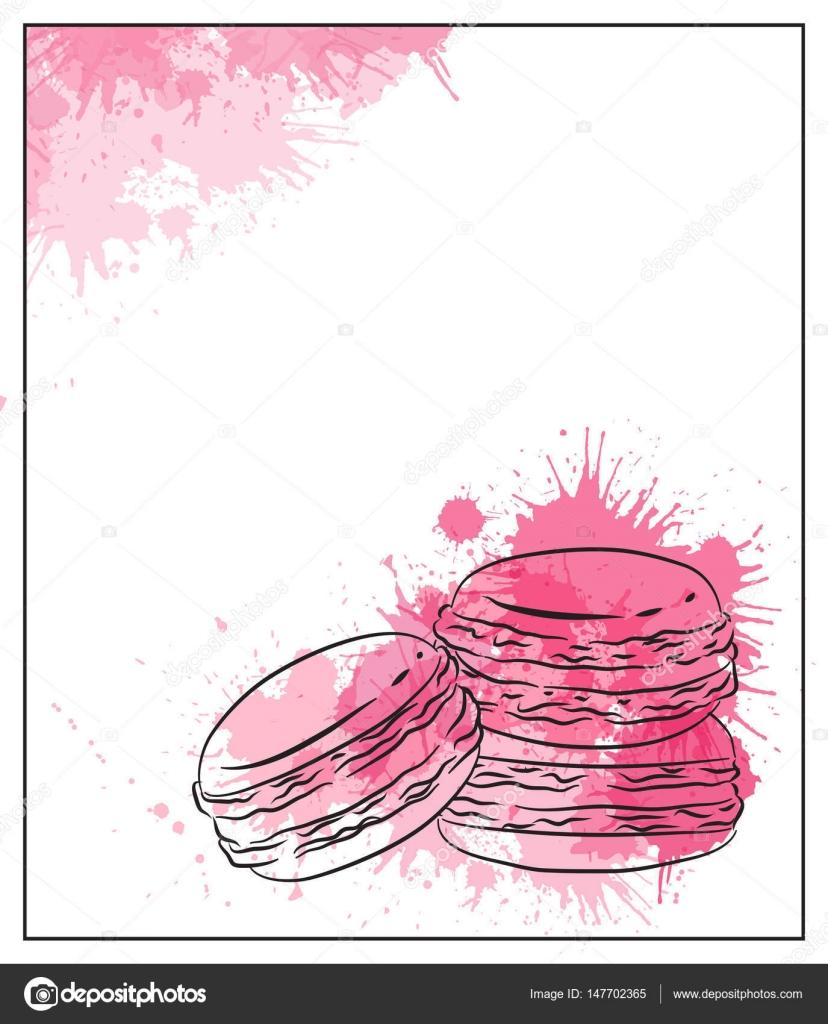 Dessin de contour des macarons image vectorielle veleri - Dessin contour ...