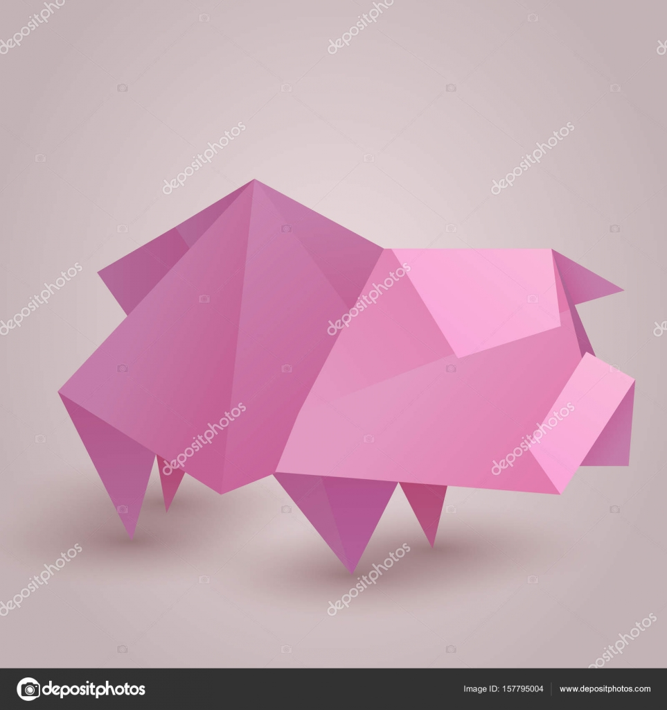Illustration of a paper origami pig stock vector veleri 157795004 illustration of a paper origami pig stock vector pooptronica