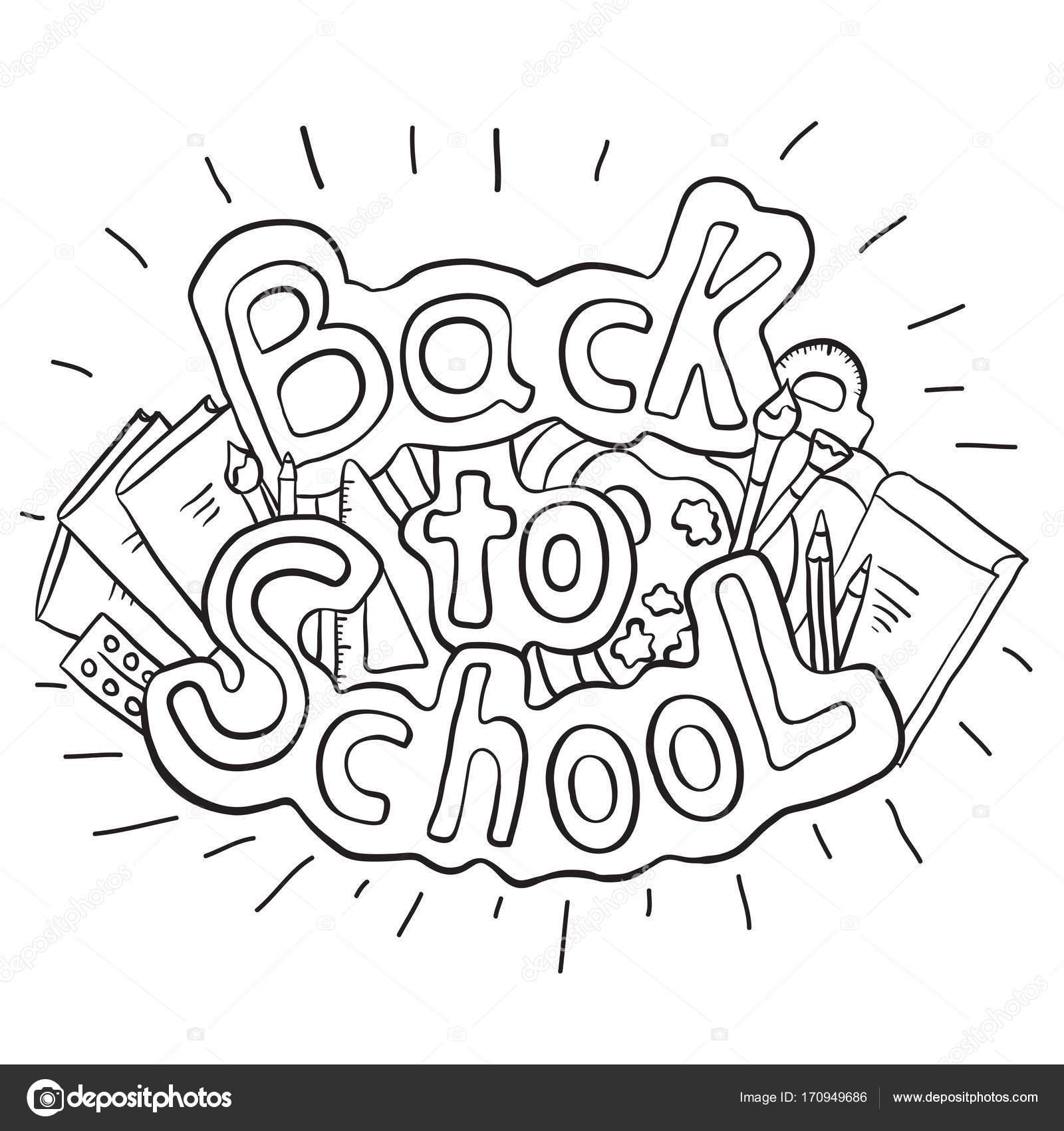 Doodle texto regreso a la escuela — Vector de stock © veleri #170949686