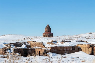 Ani Ruins on UNESCO World Heritage List. Kars Turkey ,February 2017.