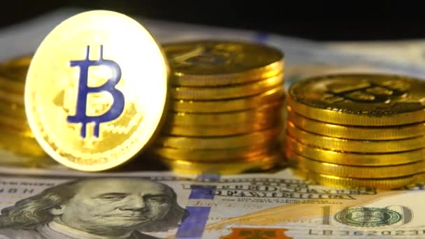 Gold Coins Bitcoin Is A Market Symbol Of The Crypto Currency A Gold