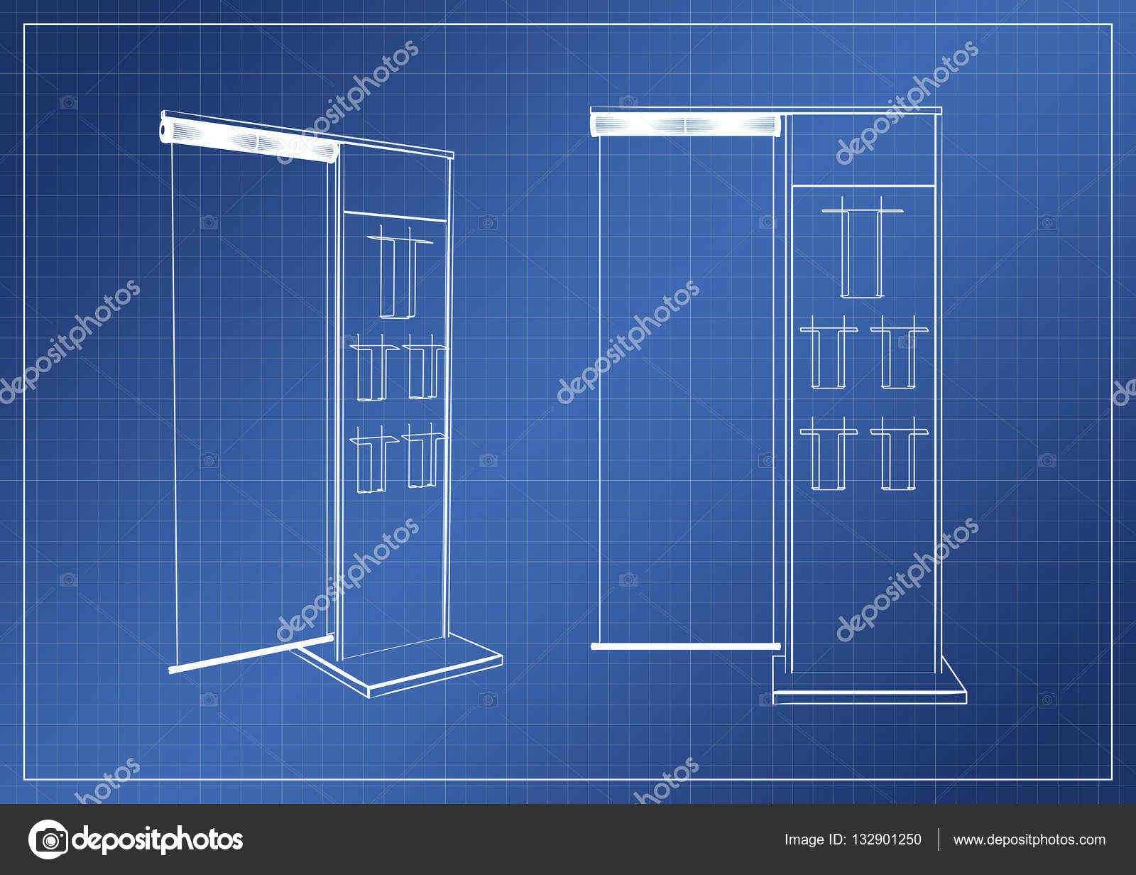 Stand on paper blueprint 3d rendering stock photo salamahin stand on paper blueprint 3d rendering stock photo malvernweather Choice Image