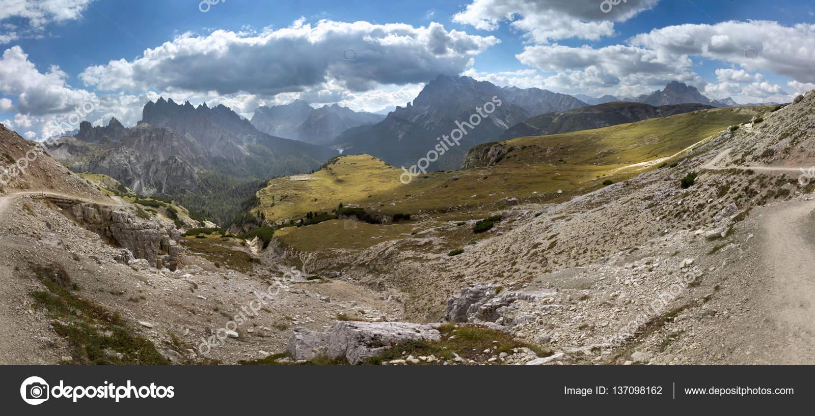 Βουνά Δολομίτες από το Tre Cime di Lavaredo, Ιταλία — Φωτογραφία ...