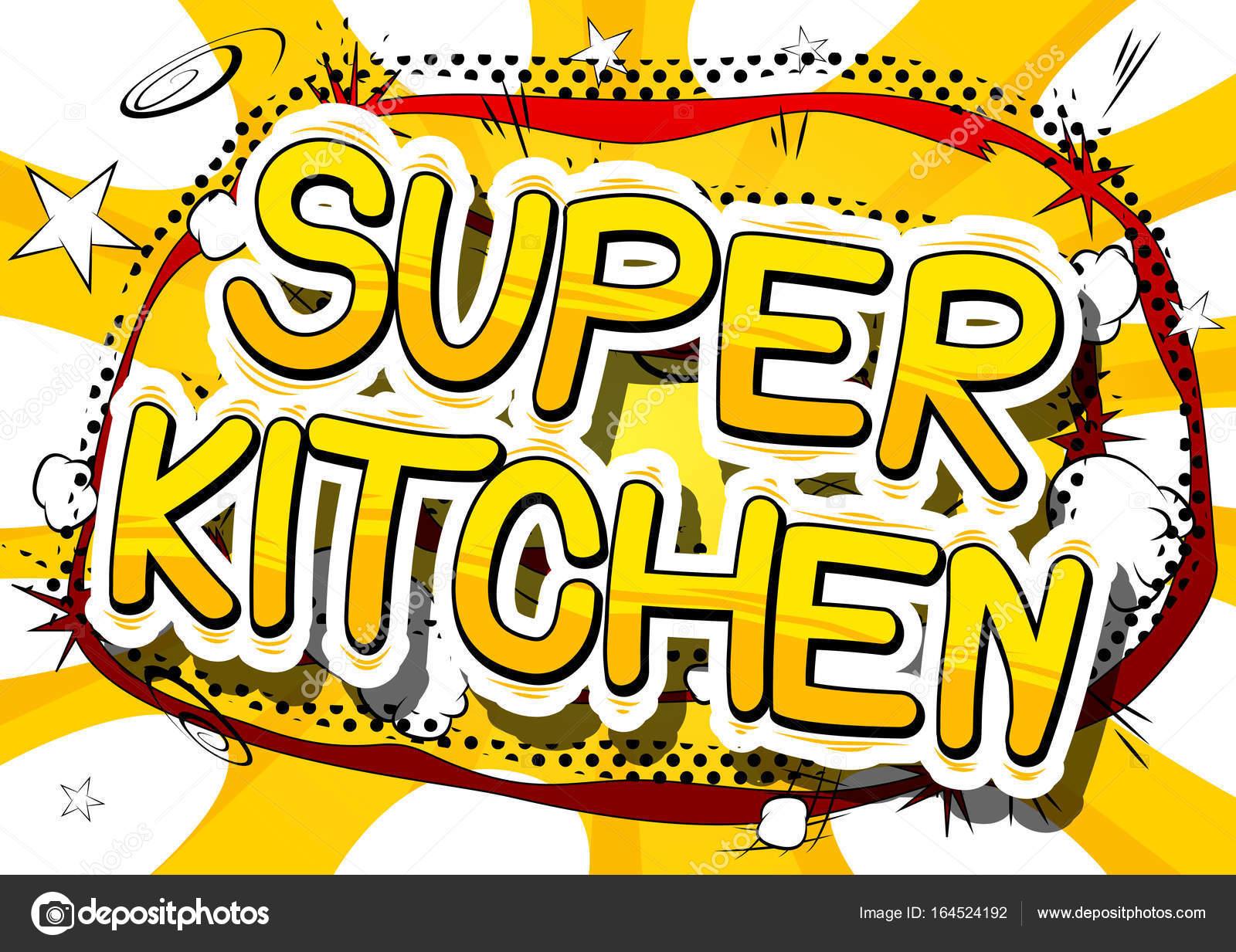 Super Kuche Comic Buch Wort Stockvektor C Noravector 164524192