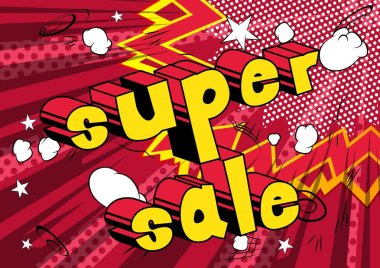 Super Sale - Comic book style word.