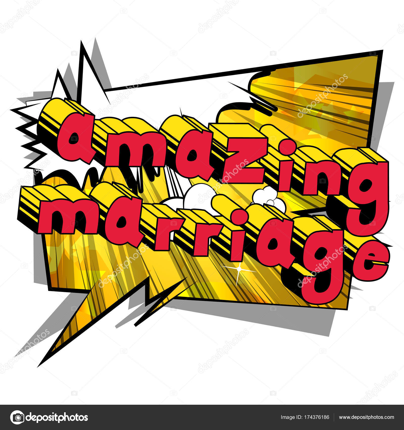 Amazing Marriage - Comic book style word. — Stock Vector ...