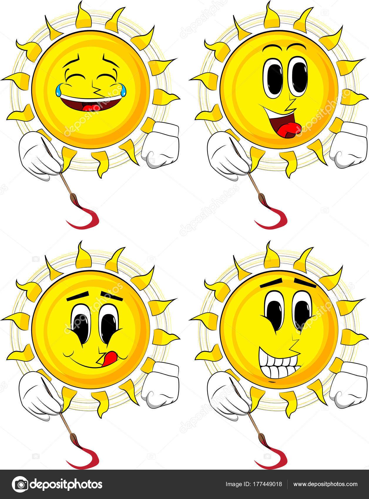 Karikatür Sanatçısı Güneş Boyama Mutlu Yüzler Koleksiyonuyla