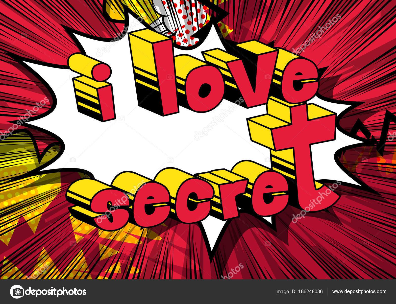 Amor Secreto Frase Estilo Quadrinhos Abstrato Vetores De Stock