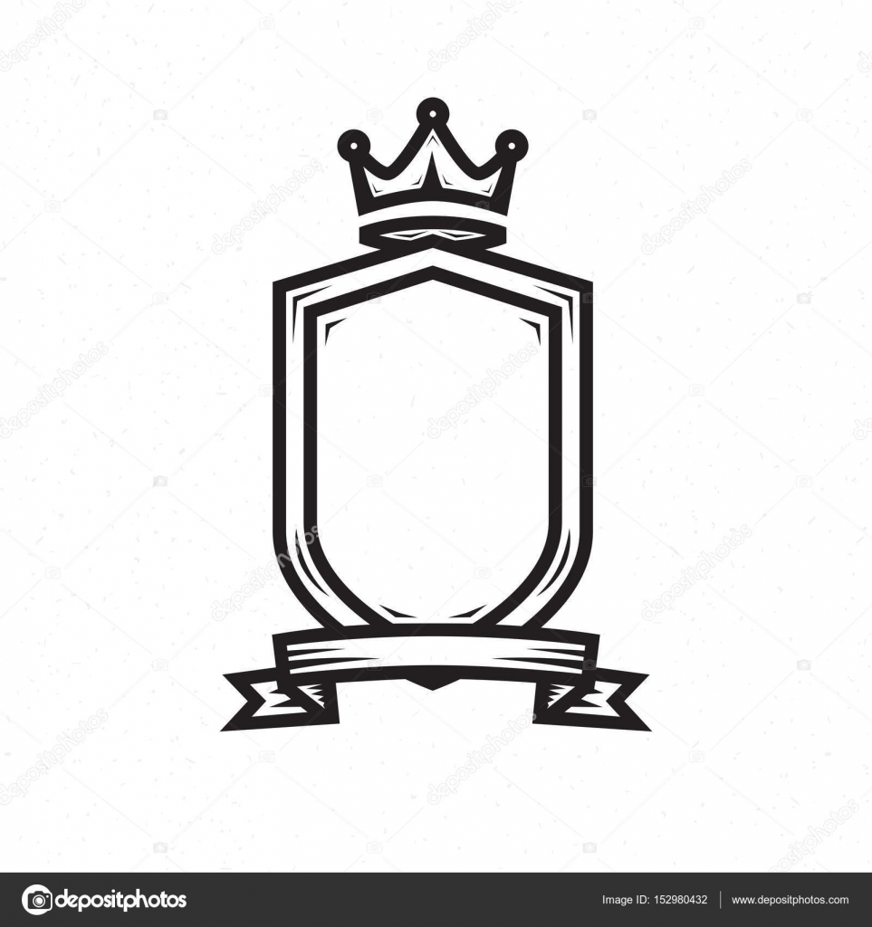 shield template for the logo stock vector poladroid 152980432
