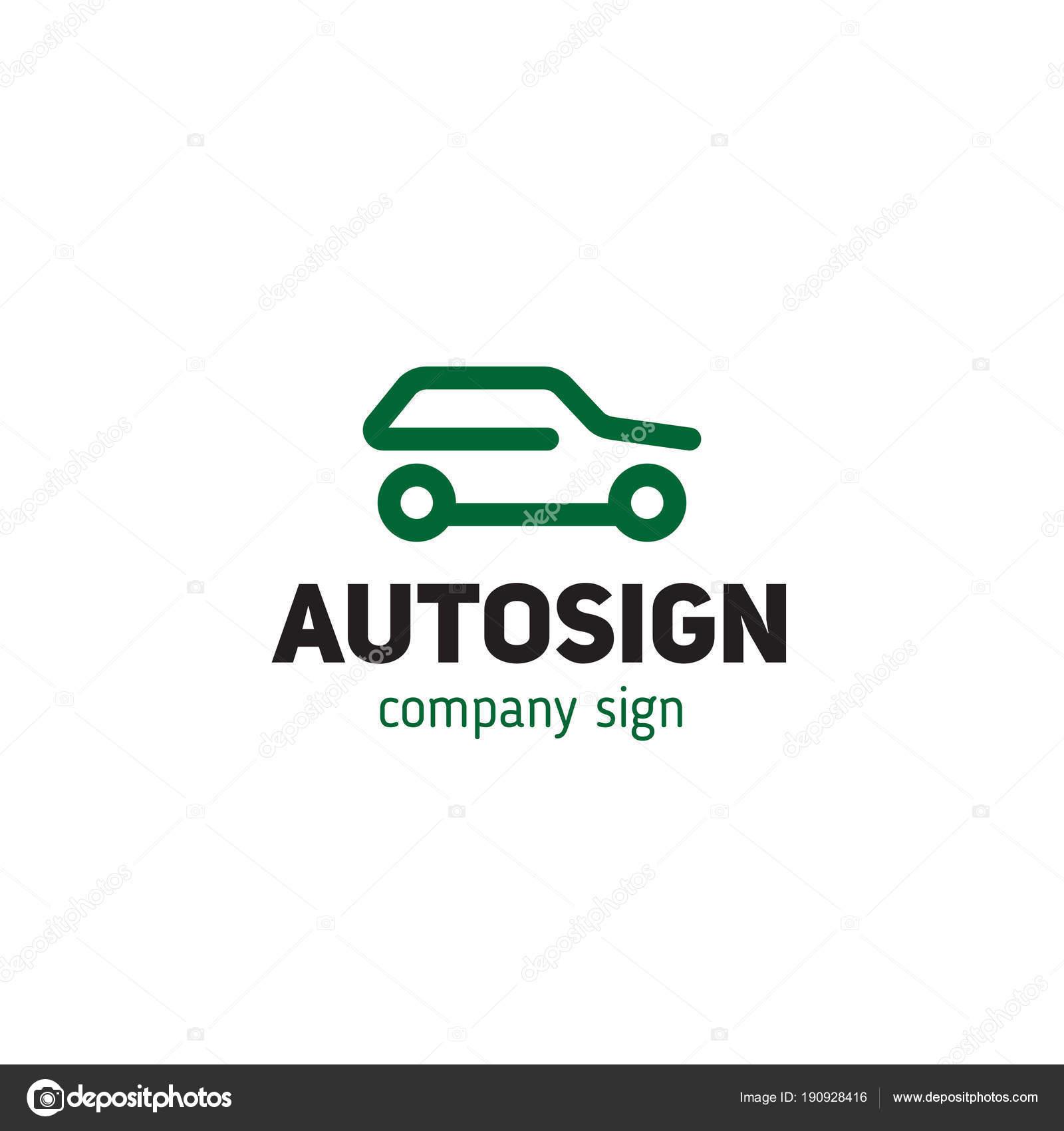 Einfaches Zeichen Auto Silhouette Stil Strichzeichnungen ...
