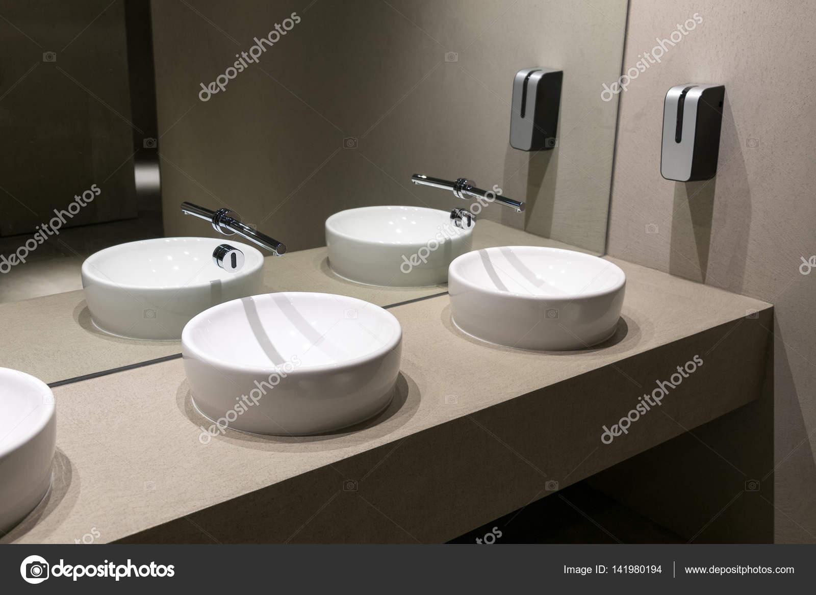 Contemporary European Ceramic Sink Modern Washbasin In Office Building Washstands With Photocells Public Toilet Wash Basins Beige Bathroom