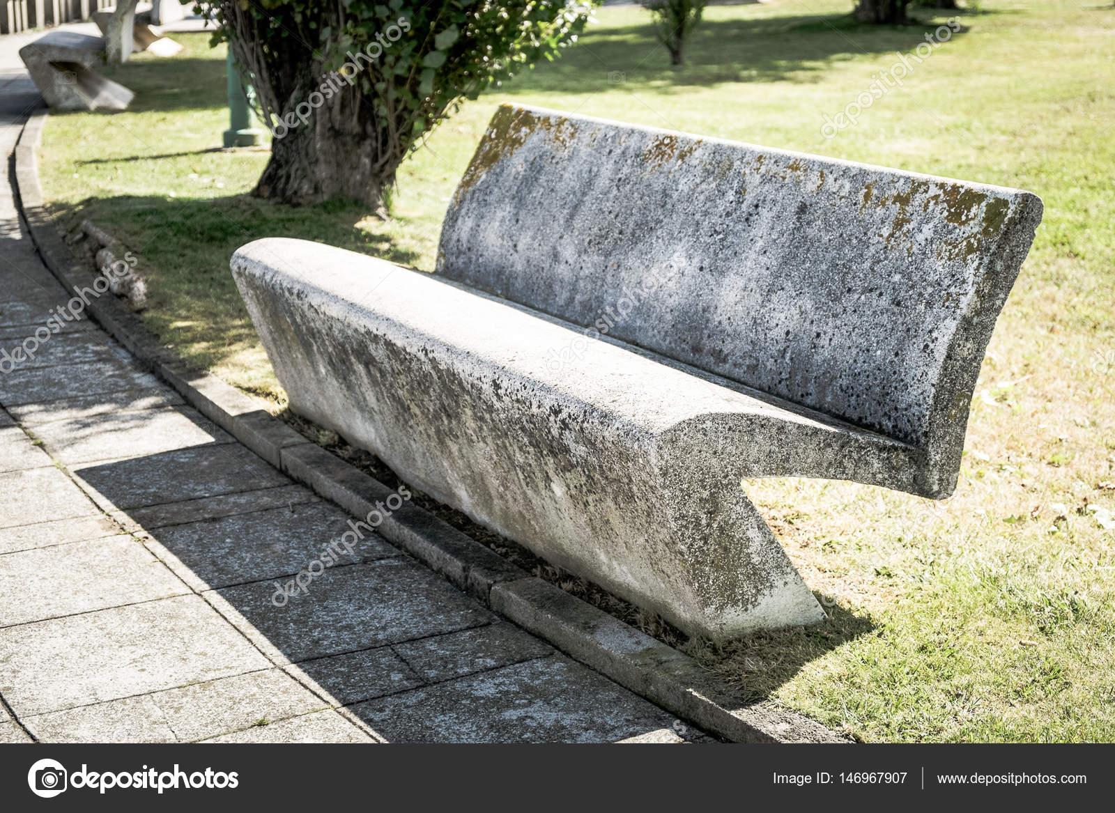 Concrete Park Bench Stock Photo C Marvlc 146967907