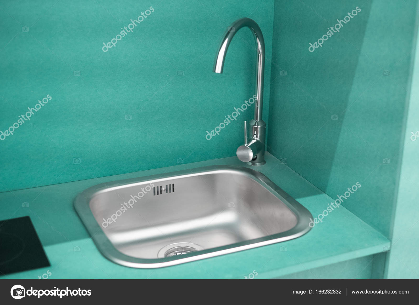 Small kitchen with sink — Stock Photo © marvlc #166232832