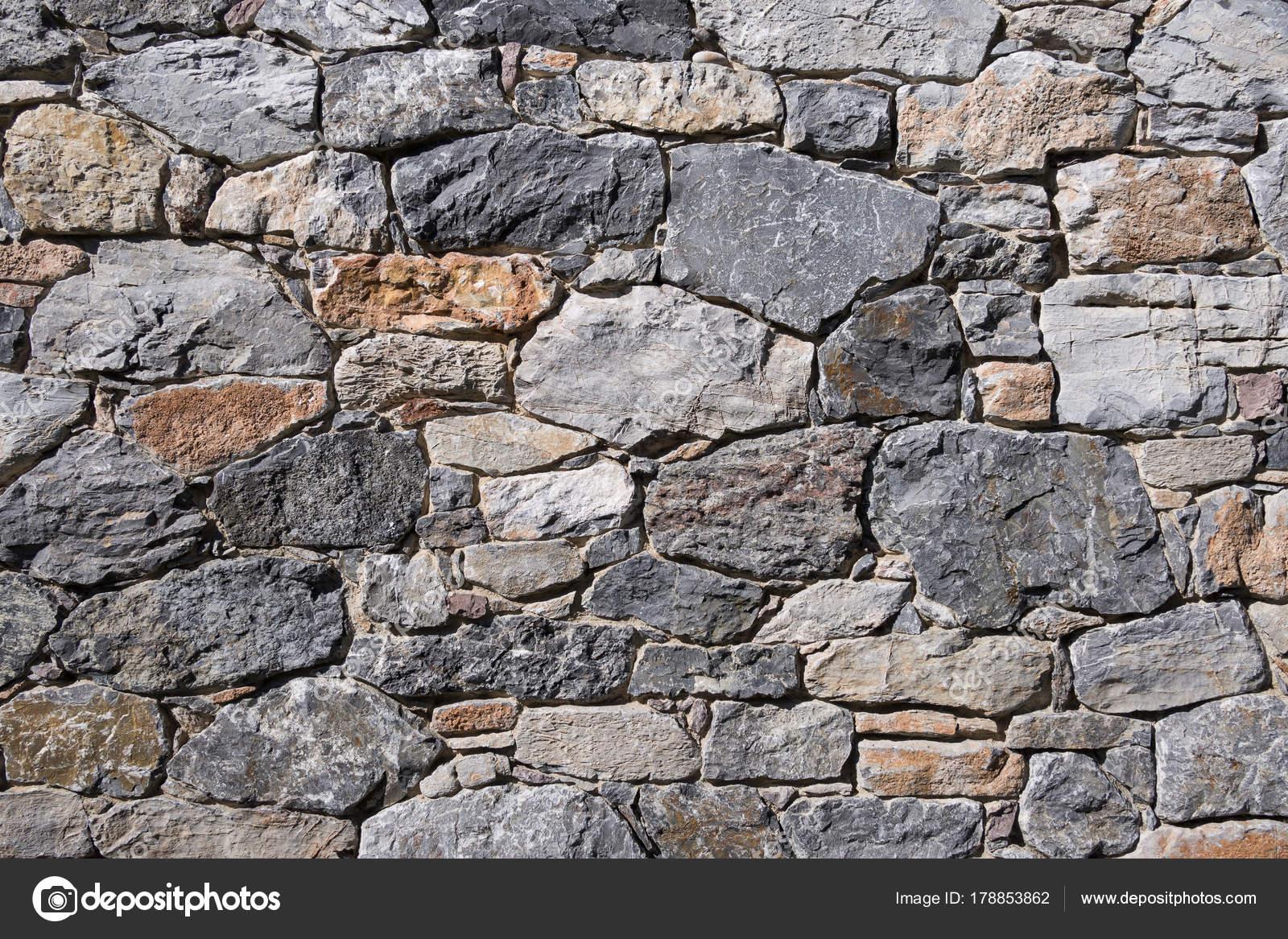 Bien Hecho Muro Piedra Granito Muro Contencion Pavimentacion Fondo - Muro-piedra