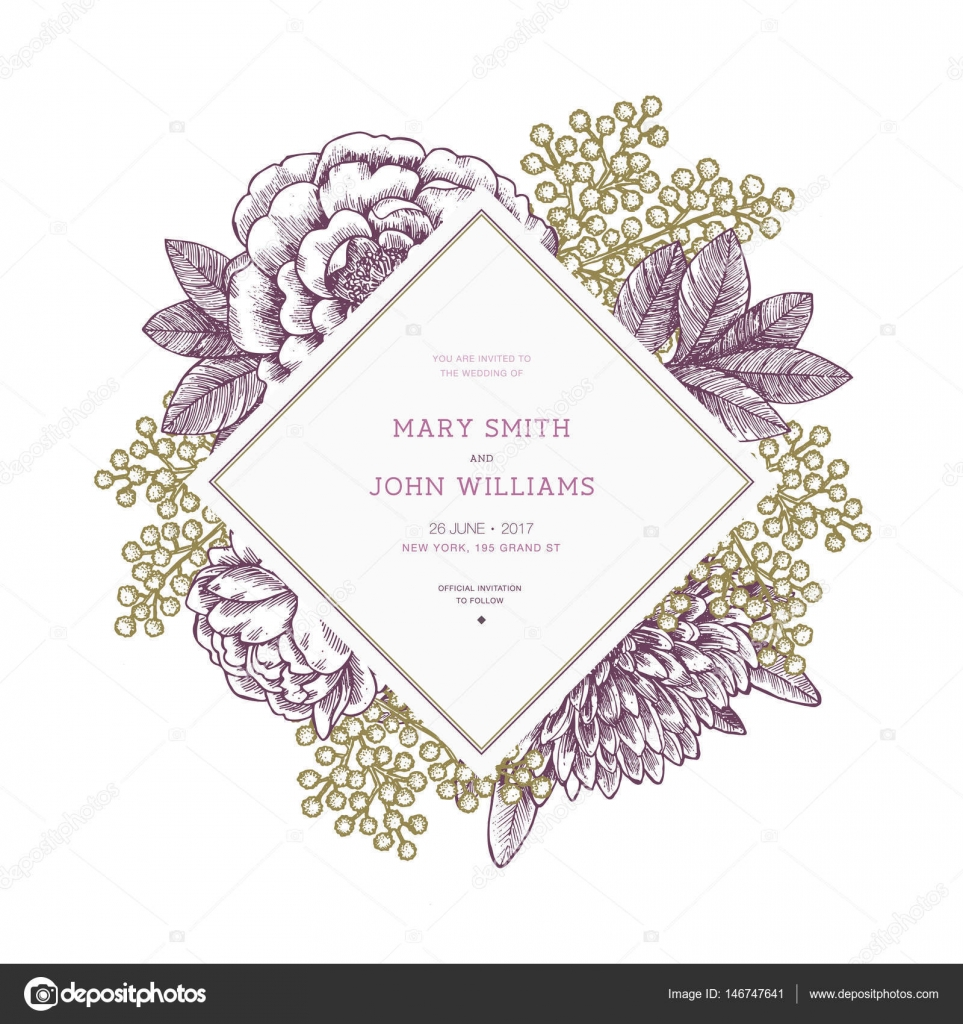 Awesome Vintage Floral Wedding Invitations Photos Styles