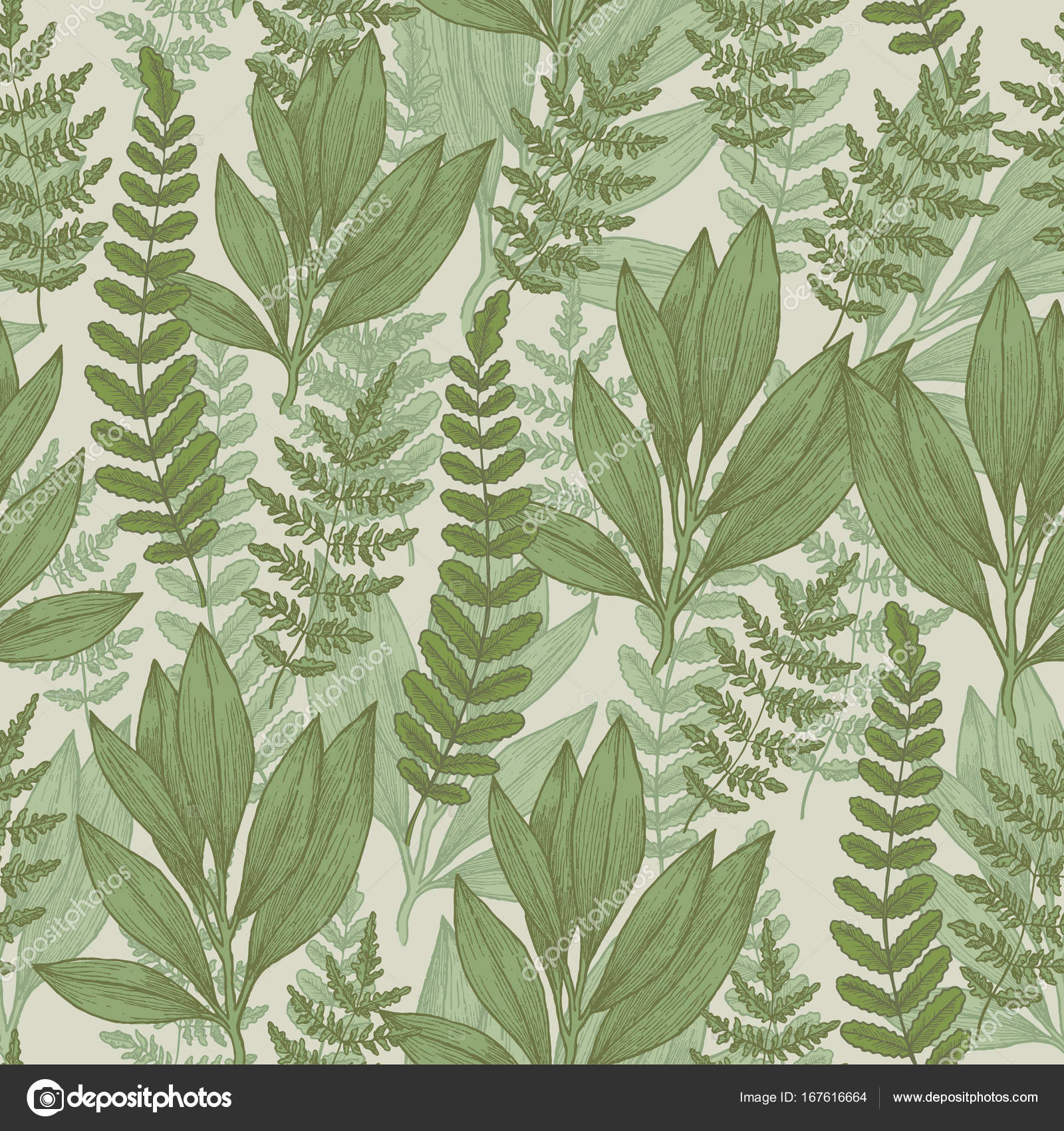 Wild Plants Seamless Pattern Vintage Floral Background Vector Illustration Vector Image By C Adehoidar Vector Stock 167616664