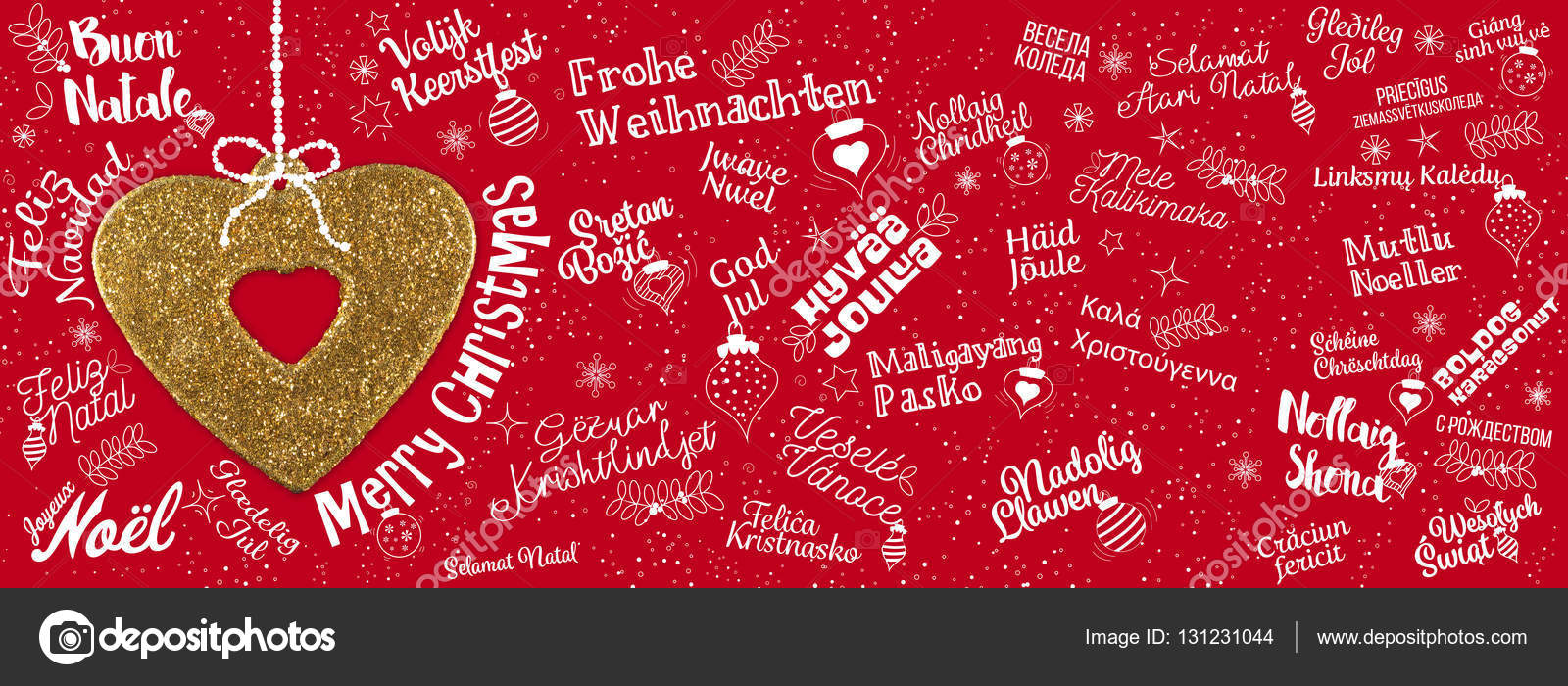 Merry Christmas Greetings Web Banner From World Stock Photo Mm