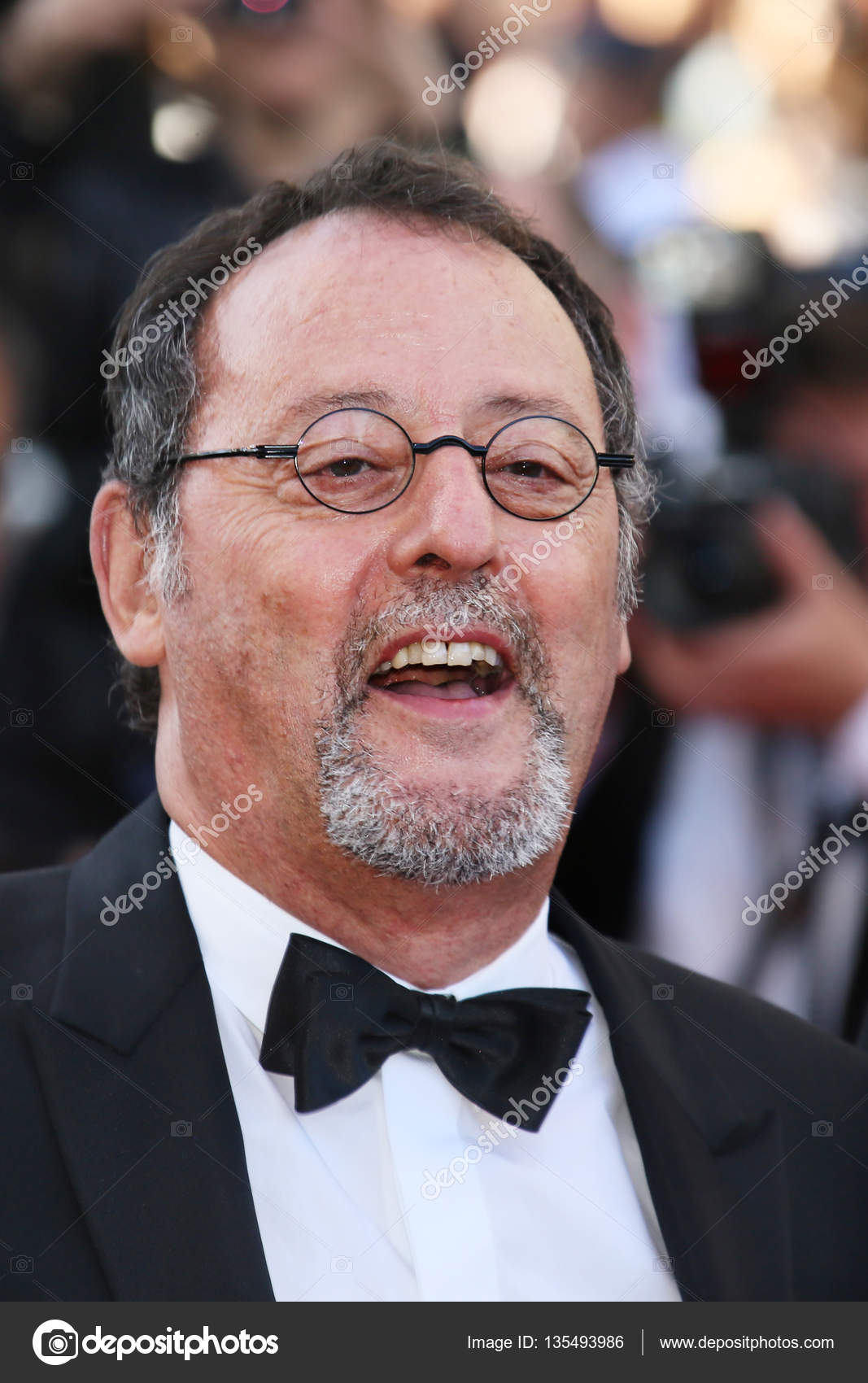 Actor Jean Reno at Last Face premiere at annual 69th Cannes Film Festival  at Palais des Festivals in Cannes, France, on May 20, 2016 — Photo by ...