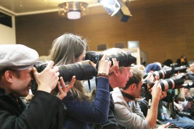 Photographer  attend the award winners press conference